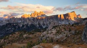 Italy Doloomites Alps, cinque Torri Stock Images