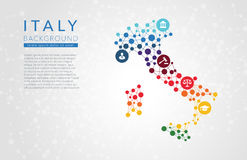 Italy dotted vector background Royalty Free Stock Image