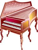 Italy double grand piano. On white background Royalty Free Stock Photography