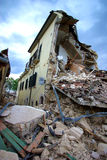 Italy earthquake. Abruzzo. interdict area. City of Onna entire destroyed Royalty Free Stock Images