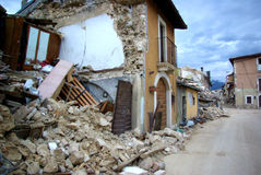Italy earthquake stock image