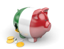Italy economy and finance concept for unemployment and national debt crisis. Rendered in 3D over a white background Royalty Free Stock Photos