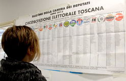 Italy elections ballots Royalty Free Stock Photos