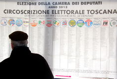 Italy elections ballots. Italy livorno,  elections ballots, voting, polla Royalty Free Stock Images