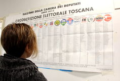 Italy elections ballots. Italy livorno,  elections ballots, voting, polla Stock Images
