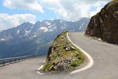 Italy - estrada alpina imagem de stock royalty free