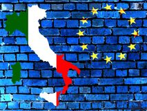 Italy and the EU (background) stock image
