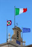 Italy EU flags Stock Image