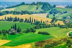 The present a provincial landscape of Tuscany, Italy, Europe. Present a provincial, landscape of Tuscany, Italy, Europe stock images