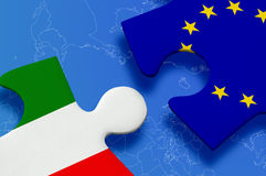 Italy European Union Puzzle Stock Images