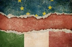 Italy exit from EU royalty free stock images