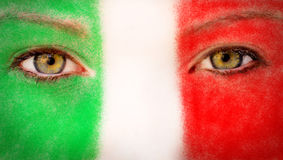 Italy fan Royalty Free Stock Photos