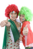Italy fans. With a flag and face painting Royalty Free Stock Photo