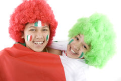 Italy fans stock photography
