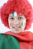 Italy fans. With a flag and face painting Royalty Free Stock Image