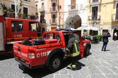 Italy firefighters Royalty Free Stock Images
