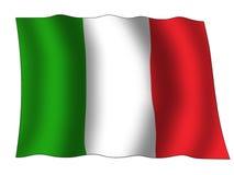 Italy flag. A wave italy national flag Royalty Free Stock Photos