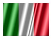 Italy flag. Wave italy national flag for design Stock Photography