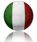 Italy flag ball. Texture of Italy flag on glossy soccer ball Royalty Free Stock Photography