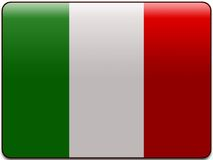 Italy flag button stock photo