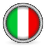 Italy flag button Stock Photos