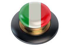 Italy flag button Stock Images
