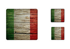 Italy Flag Buttons Royalty Free Stock Photography