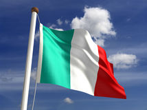 Italy flag (with clipping path) Royalty Free Stock Photo