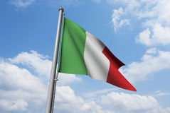 Italy Flag with Clouds Royalty Free Stock Photography