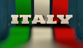 Italy flag design concept Royalty Free Stock Image