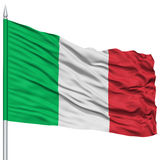 Italy Flag on Flagpole Stock Images