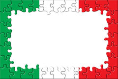 Italy Flag Frame Puzzle Stock Photography