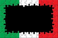 Italy Flag Frame Puzzle. / Black Background Royalty Free Illustration
