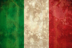Italy flag in grunge effect Royalty Free Stock Photography