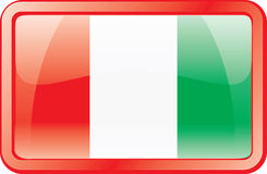 Italy Flag Icon Stock Photo