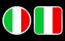 Italy flag icon Royalty Free Stock Photo