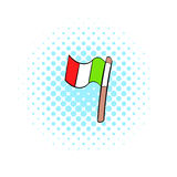 Italy flag icon, comics style Royalty Free Stock Image
