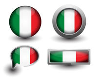 Italy flag icons Stock Photos
