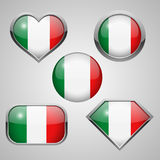 Italy flag icons theme Stock Photo