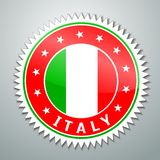 Italy flag label Royalty Free Stock Photography