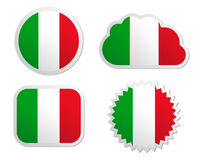 Italy flag labels Royalty Free Stock Photos
