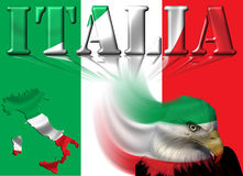 Italy Flag / Map & Eagle Stock Photography