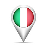 Italy flag map pointer with shadow. Vector illustration vector illustration