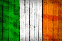 Italy flag painted on wooden boards Royalty Free Stock Photography