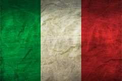 Italy Flag on Paper. Flag on an old Paper Texture Stock Photos