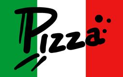 Italy flag pizza Stock Photo