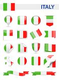 Italy Flag Vector Set royalty free illustration