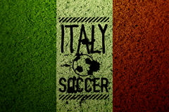 Italy flag soccer grass texture Royalty Free Stock Images