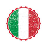 Italy flag stamp with grunge. Vector illustration Royalty Free Stock Photography