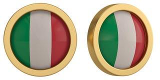 Italy flag symbol isolated on white background. 3D illustration. Italy flag symbol isolated on white background. 3D illustration stock illustration
